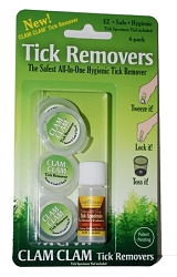 CC-72000 CLAM CLAM TICK REMOVERS with Specimen Vial (Pack of 2)