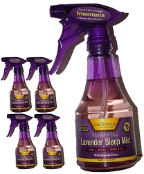 4-PACK LM-20050 CureCeuticals® All-Natural Lavender Sleep Mist (12 oz Each Bottle)