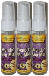 LM-10004-3 3-PACK CURECEUTICALS ® BFV Natural Lavender Sleep Mist 1oz 3-PK - Travel Pack